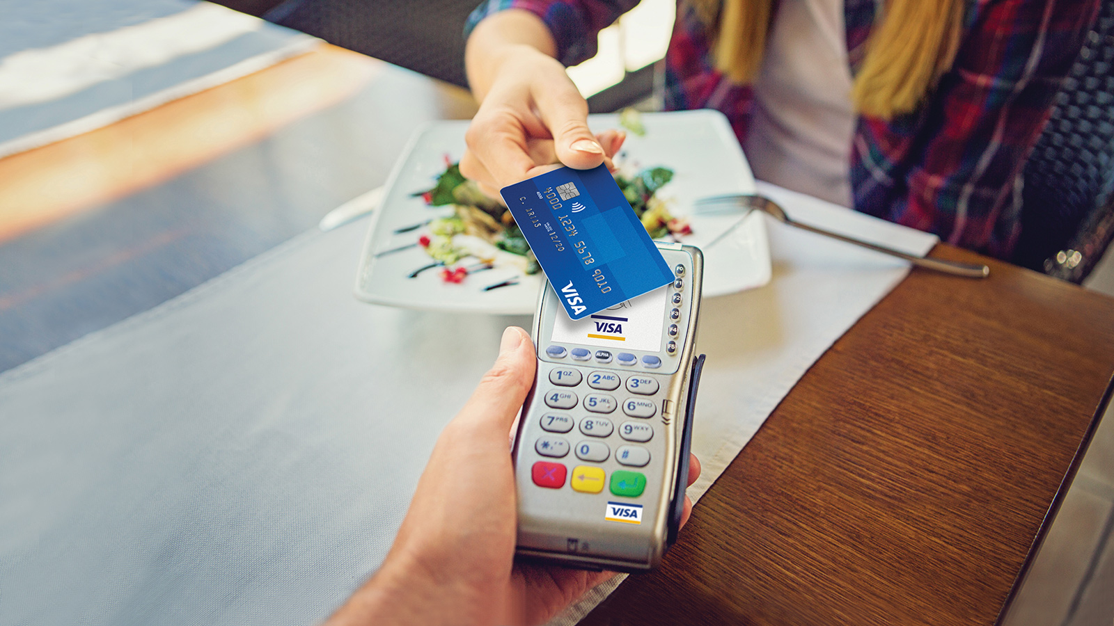 Paying with Visa card